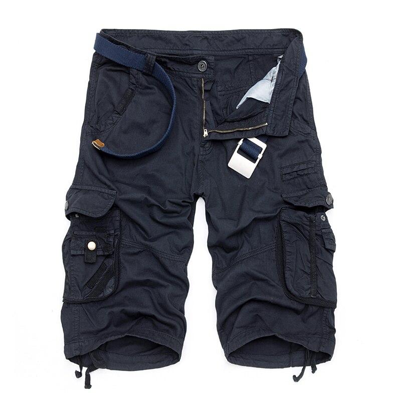 Camo Military Shorts Bermuda 2017 Summer Camouflage Cargo Shorts Men Cotton Loose Tactical Short Pants No Belt