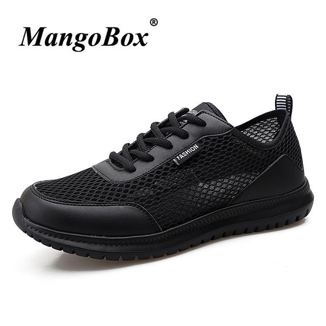 79aff240a41a Black White Sport Shoes Man Sneakers 2018 Spring Summer Running Sneakers  for Men Breathable Big Size 38-48 Mens Trainers