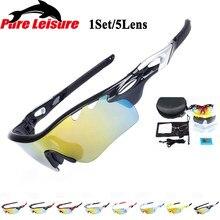 a1653c179f PureLeisure hombres gafas De sol polarizadas Clip pesca Lunettes De Soleil Lunettes  1 Unidades 5 lente