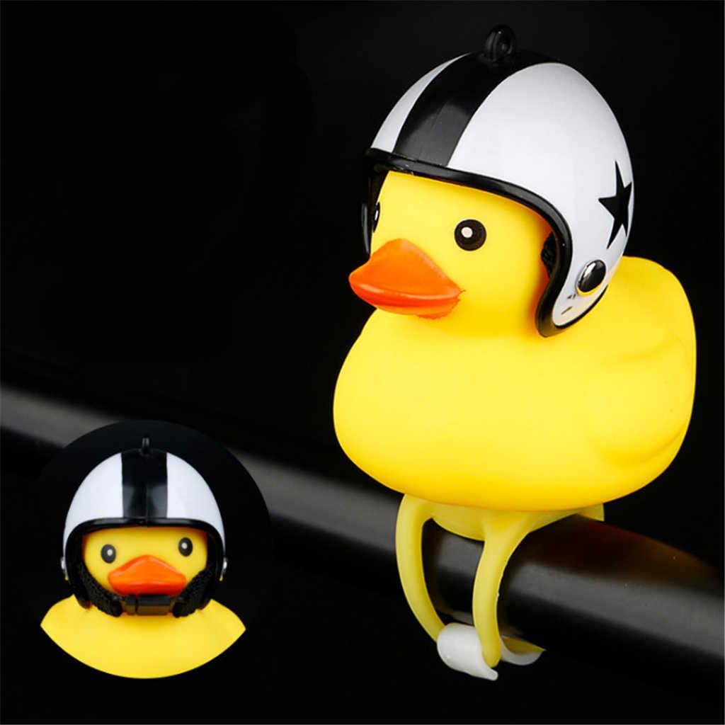 Забавная желтая утка с шлемом велосипедный Звонок Колокольчик для автомобиля Велоспорт велосипед езда Рог сигнализация игрушка для детей и взрослых