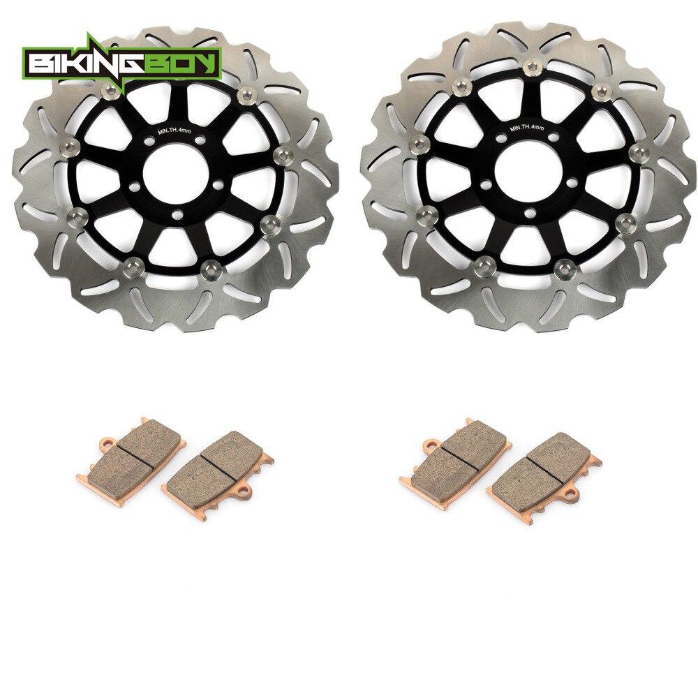 Front Brake Discs Disks Pads GPZ900R 95 96 98 ZXR 400 R 89 90 ZZ-R 400 600 KR-1S
