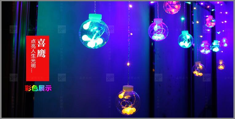 IWHD Navidad LED Christmas Lights 220V Big Cotton Ball Decoration Cristmas LED String Fairy Lights Garlands Luzes De Natal