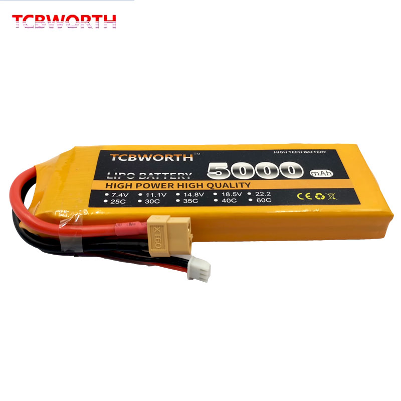 RC Toy <font><b>LiPo</b></font> Battery <font><b>2S</b></font> 7.4V <font><b>5000mAh</b></font> 60C <font><b>LiPo</b></font> <font><b>2S</b></font> For Drone RC Airplane Helicopter Quadcopter Boat Tank Car 7.4V Battery <font><b>LiPo</b></font> <font><b>2S</b></font> image