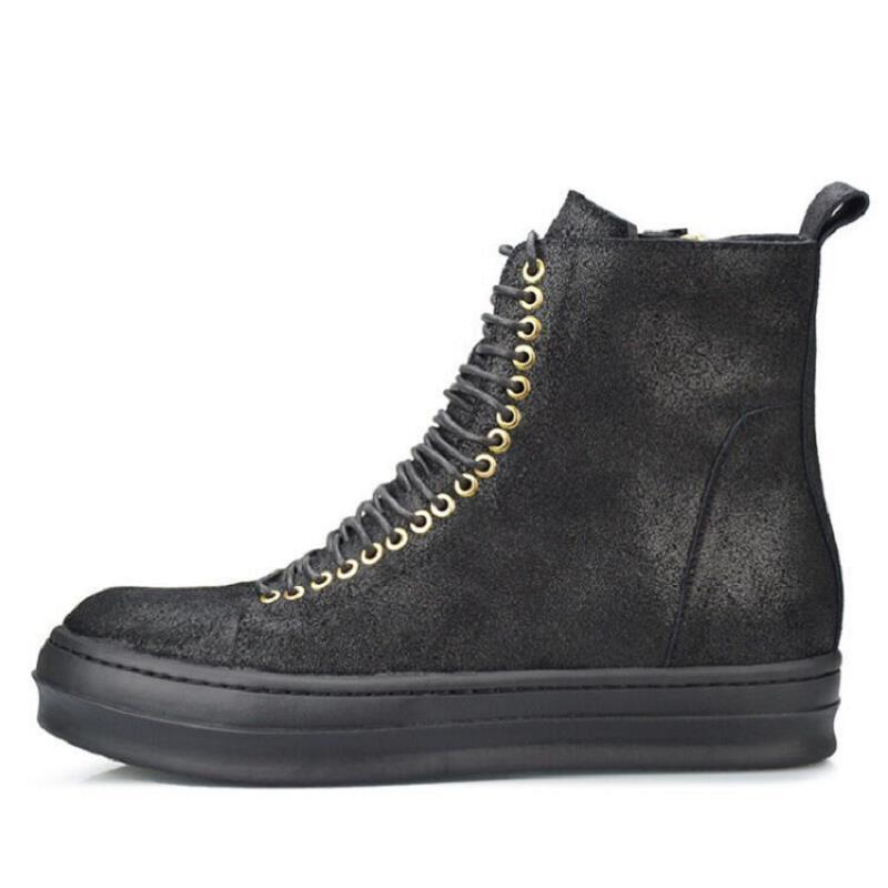 Cuir Bottes up Nouvelle Designer En Noir Dentelle Arrivée Hommes Chaussures Printemps Automne Casual Marque Martin Personnalité Northmarch Et TJ13lcFK