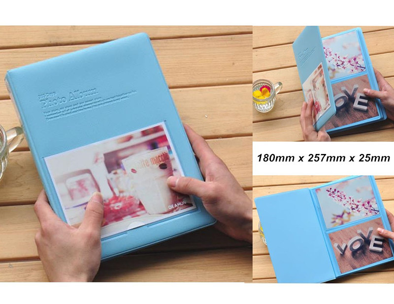 New Arrival 5 Colors 6 Holds 4D Photos PVC Polaroid Photo Album Free Shipping