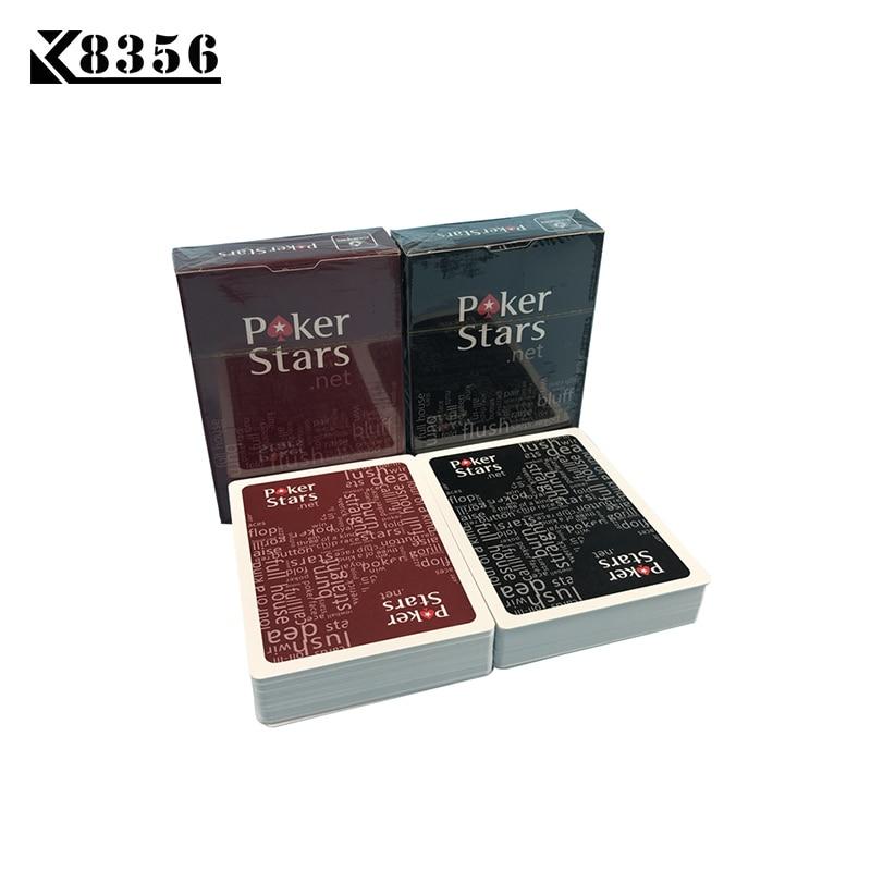 K8356 10 Sets / Lote Baccarat Texas Hold'em Tarjetas de Juego de Plástico Impermeable Frosting Poker Card Pokerstar Juego de Mesa 2.48 * 3.46 pulgadas