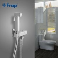 FRAP Bidets  cold water corner valve bidet solid brass single function square hand shower crane 90 degree head tap switch