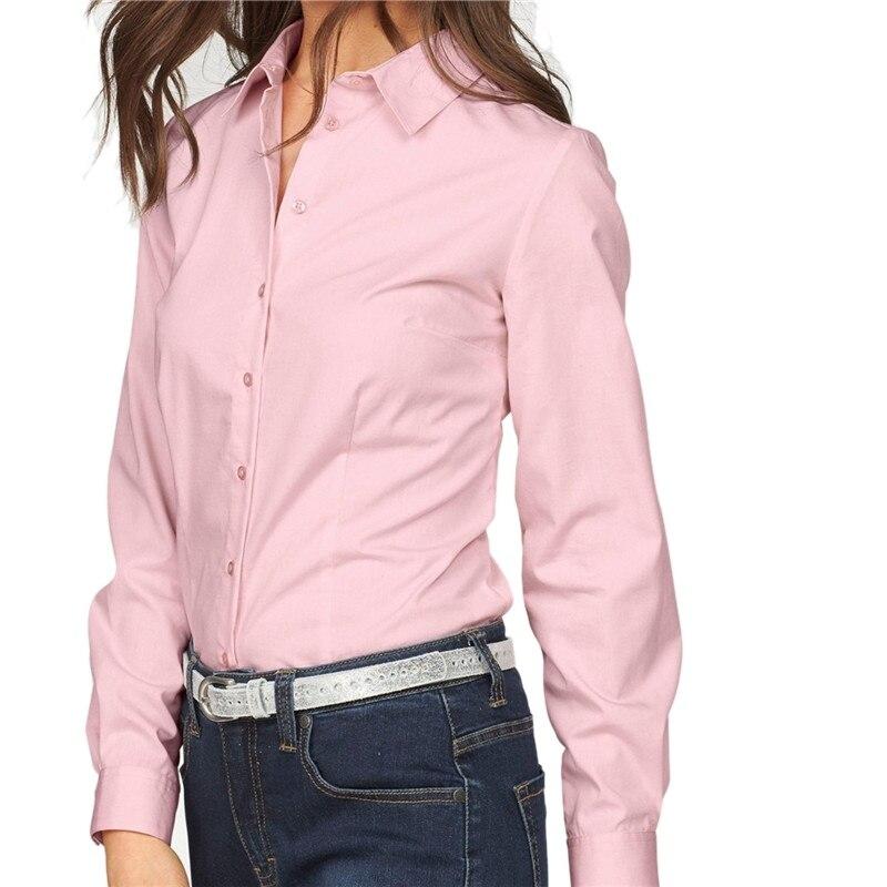 Autumn  Women Solid Shirt Women Long Sleeve Shirt Tops For Women Blouse Shirt Button Up Loose Blouse Women OL Work