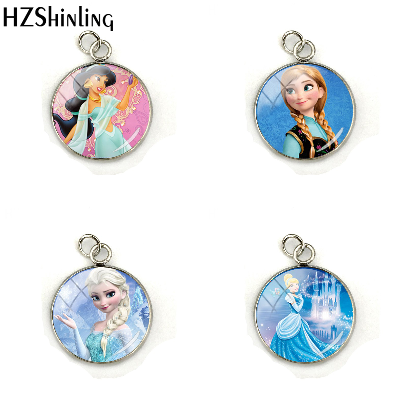 Snow Queen Diamontrigue Jewelry: 2018 New Fashion Handmade Charm Jewelry Glass Cabochon