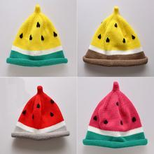Kids Baby Girls Toddler Winter Crochet Knitted Watermelon Hat Cap Bonnet Beanie Monster Elf