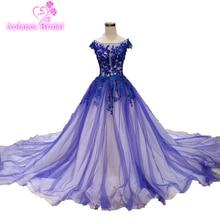 Lebanon 2019 Royal Blue Prom Dresses Cape Sleeves Ball Gown Long Evening Dress Engagement Photos Custom Made Cheap