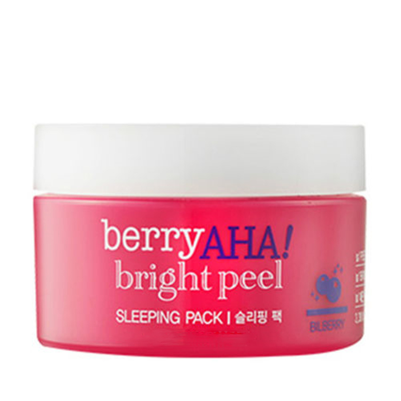 ZANABILI Original Korea Berry AHA Bright Peel Sleeping Pack 100ml Skin Care Face Sleep Mask Moisturizing Smooth Skin Facial Mask pay mts