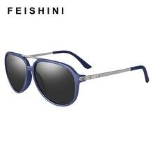 FEISHINI Brand DESIGN Men Classic Pilot Polarized Sunglasses Women Lighter Frame 100% UV Protection celebrity Sunglass
