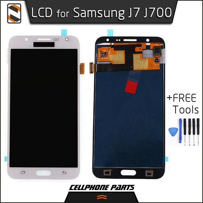 ФОТО LCD Display for Samsung Galaxy J7 2015 J700 J7000 J7008 J7009 J700F J700H J700M J700M/DS LCD Display Touch Screen Digitizer+Tool