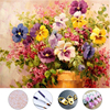 Colorful Flowers Diy Oil Painting Drawing Frameless Picture On Wall Acrylic Painting By Numbers On The