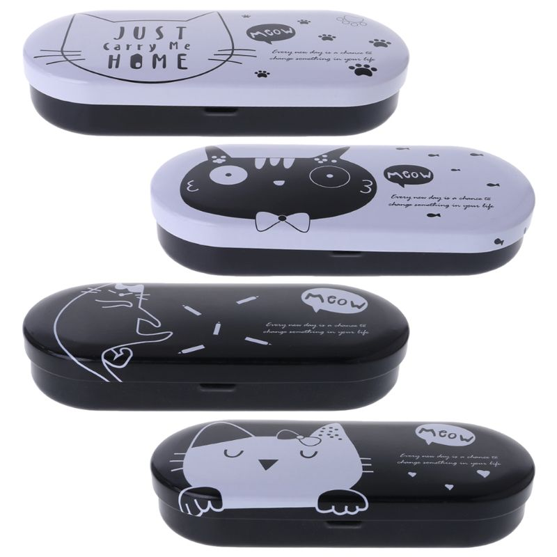 New Unisex Glasses Box Cute Cat Cartoon Eyewear Protector Eyeglasses Sunglasses Portable Storage Spectacle Cases Lovely Cover