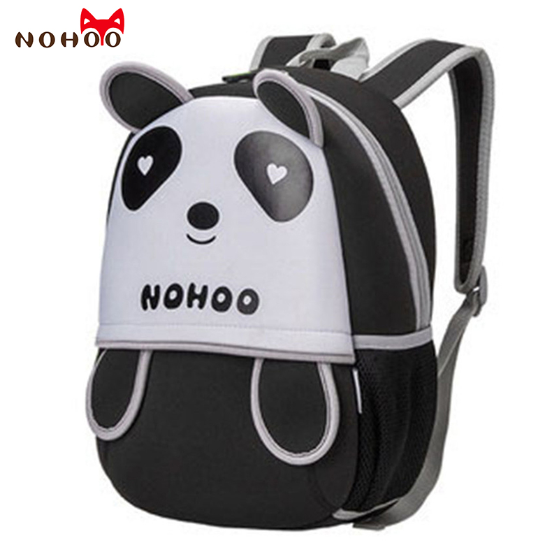 NOHOO Waterproo3D Animals Children Backpacks Kids Neoprene School Bags for Teenagers Child Cartoon Panda Pattern Schoolbag fnaf cute maine coon cat printing backpacks for kids cartoon school bags children teenagers boys girls schoolbag child book bag