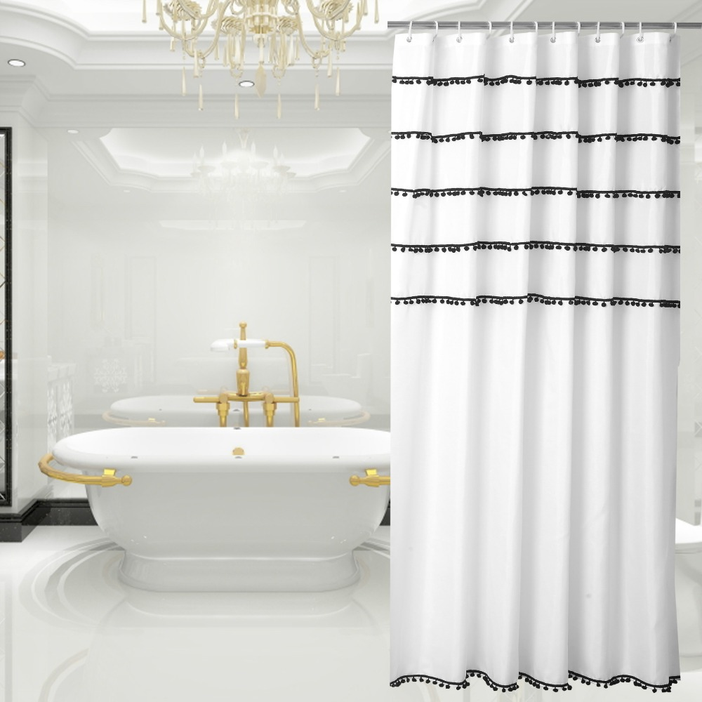 High End Fashion Bathroom Polyester Cloth Shower Curtain New Mildew Waterproof Curtains Stalls In From Home