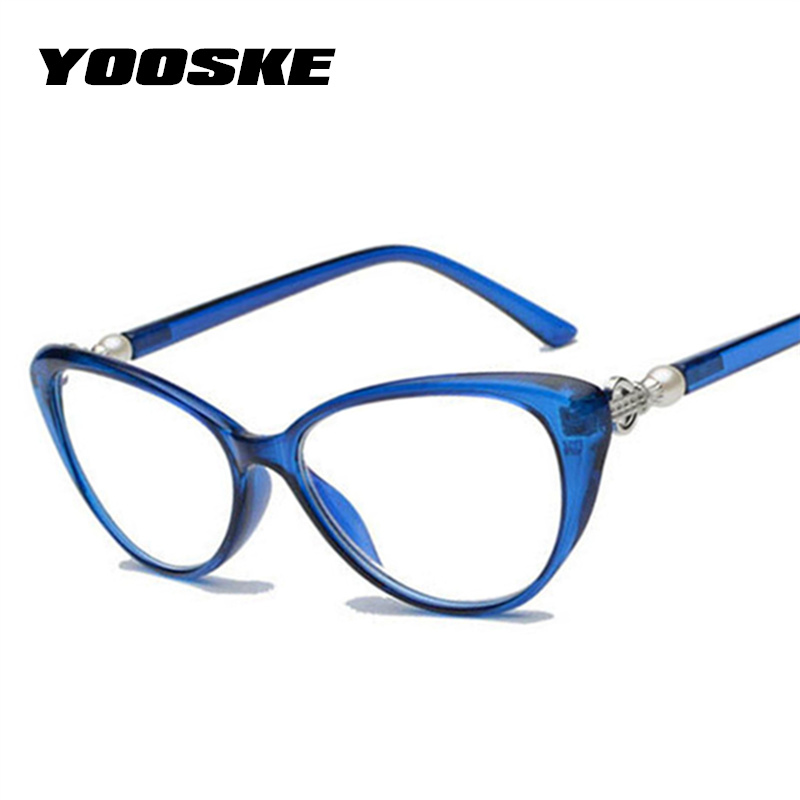 5dbe2b0ec5 YOOSKE Women Cat Eye Reading Glasses Fashion Elegant Hyperopia Prescription  Glasses Ultra Light Blue Film Resin Reading Glasses-in Reading Glasses from  ...