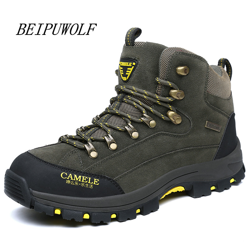 Size 39-45 Warm Outdoor Hiking Shoes Men Autumn Winter Trekking Hiking Boots Mountain Climbing Shoes Men Anti-skid Sneakers цена