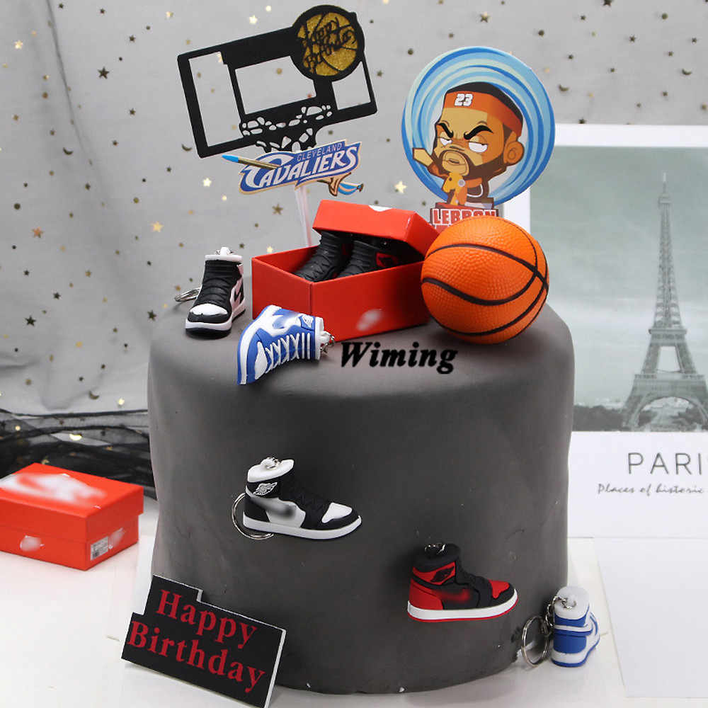 Swell Basketball Star Hoopman Cake Topper Ts For Friends Baby Kids Funny Birthday Cards Online Unhofree Goldxyz