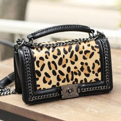 dabc1716643f ... Bags Bolsos Mujer Clutch Female Sac · Women s bag 2018 autumn and  winter new fashion sexy luxury leopard horse hair chain shoulder portable