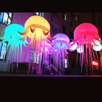 2018 Free shipment beautiful inflatable jellyfish star for easter decorations