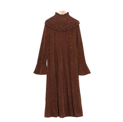 Base Noir Mince coffee Creux Manches Robe rust Flocage 2017 Guesod Robes Genou Femmes Longueur D'hiver Flare Dentelle apricot Out Femme Red De qBvXHFwT