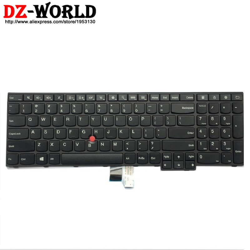 New Original US English Keyboard For Lenovo Thinkpad E550 E550C E555 E560 E565 Teclado 00HN000 00HN037 00HN074 SN20F22600
