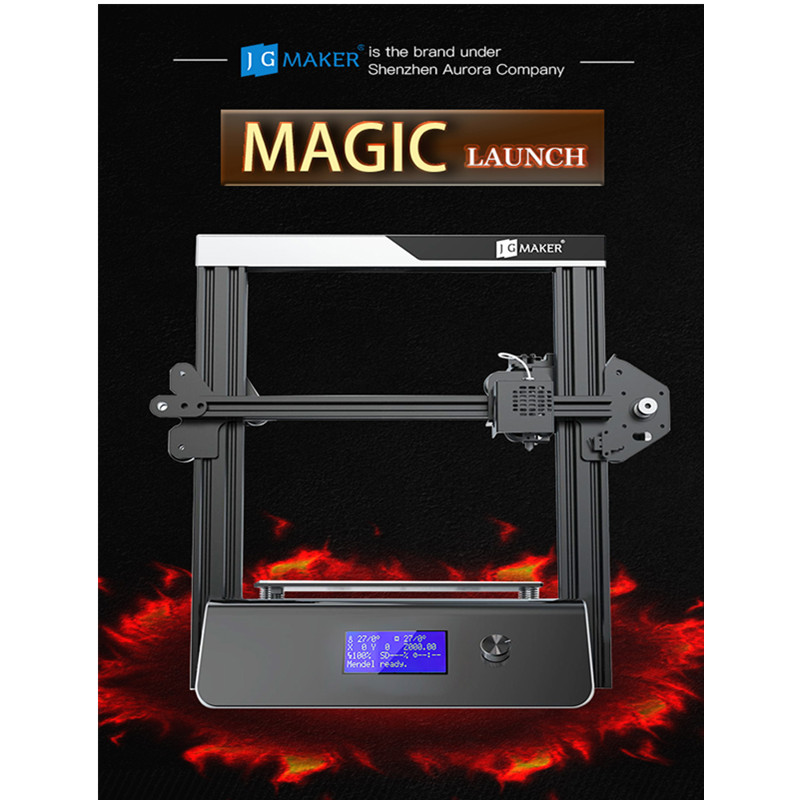 JGAURORA Magic Updated 3D Printer LCD Screen Dispaly with Large Printing Area Printing Machine ABS PLA Support SD Card