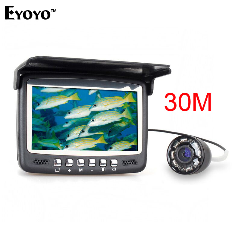 Eyoyo Original 30M Underwater Ice Video 1000TVL Fishing Camera Fish Finder 4.3