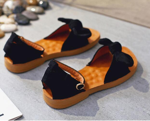 2018 Summer Women Sandals Open Toe Flip Flops Womens Flat Sandles With low Heeled Women Shoes Bowtie Knot Gladiator Shoes
