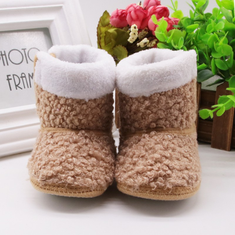 Winter Autumn Baby Newborn Girls Prewalker Keep Warm Infant Toddler Princess Style Kids Crib Snow Knitting Shoes