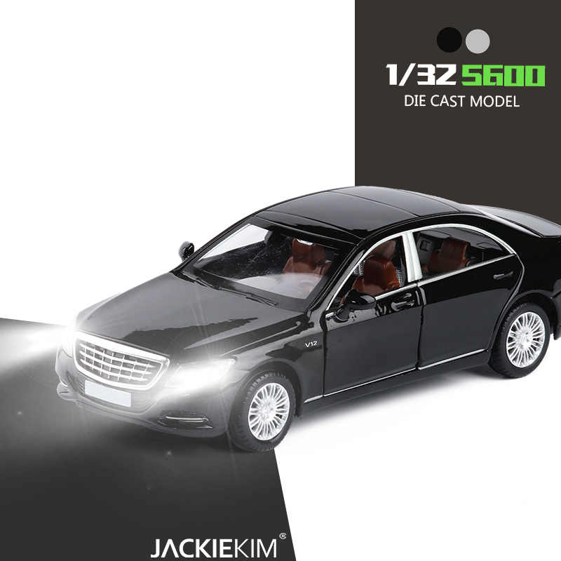 New Licensed Alloy Model Luxury Cars 1/32 Maybach S600 Die-Cast Vehicle Model Car With Light Music For Kids Toy Car Gifts