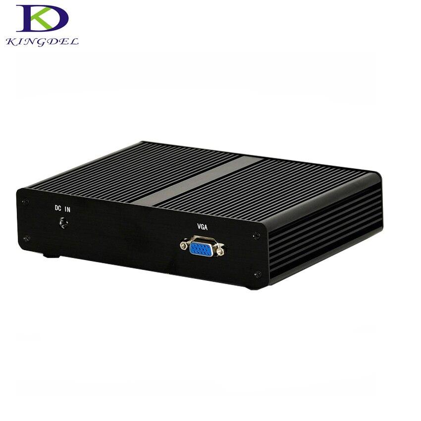 Fanless Mini Pc Intel J1900 Quad Core Mini PC RAM+MSATA SSD 4 LAN Firewall Multi-function Router TV Box Micro Desktop