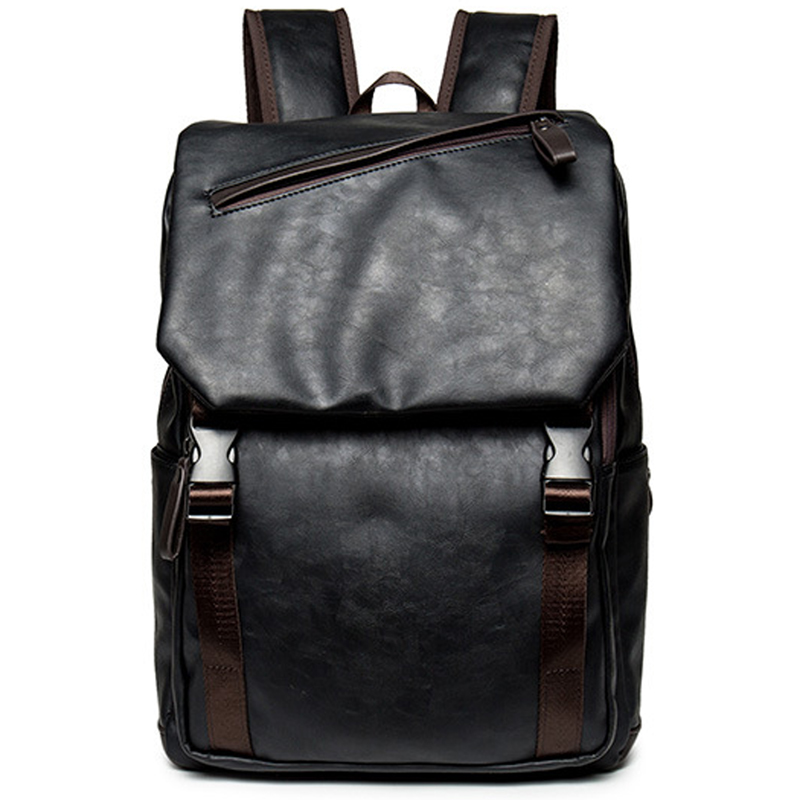 LEVELIVE Vintage Men's Leather Backpacks Men Laptop Backpack Male Travel Bag Backpack Fashion Brand School Bags for Teenager foru design 600d fashion backpack brand design school book bag polyester bag men computer packsack swiss outsports backpacks