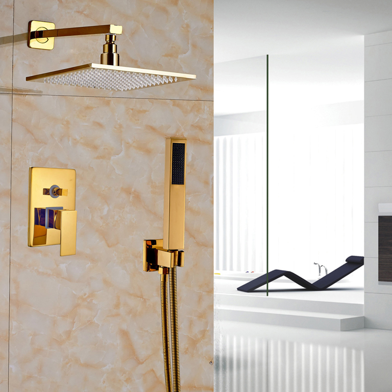 Best Quality Lower Price Gold Finish Shower Faucet with Brass 10 Shower Head
