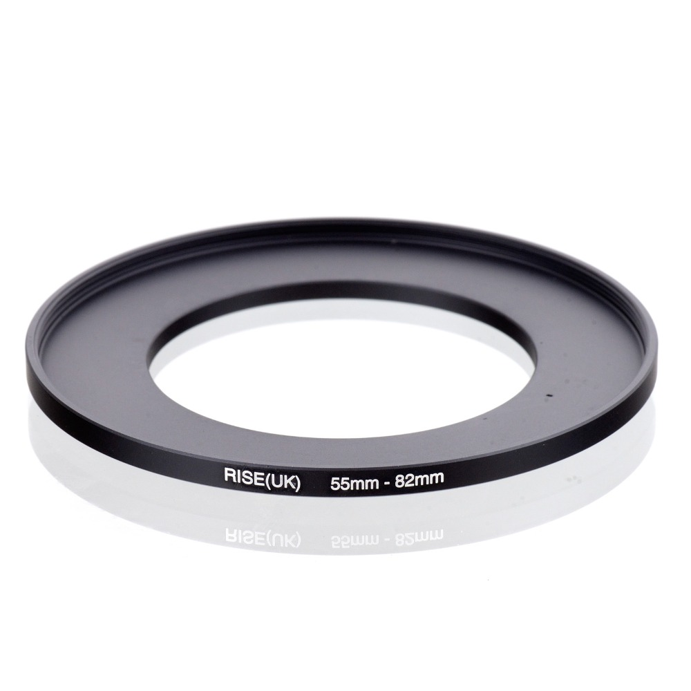 Original RISE(UK) 55mm-82mm 55-82mm 55 To 82 Step Up Ring Filter Adapter Black