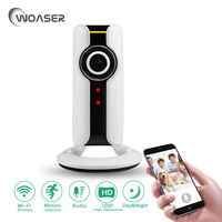 WOASER 720P HD Mini IP Camera WiFi Smart Wireless Infrared Security Camera 180Degree 1 44mm Wide