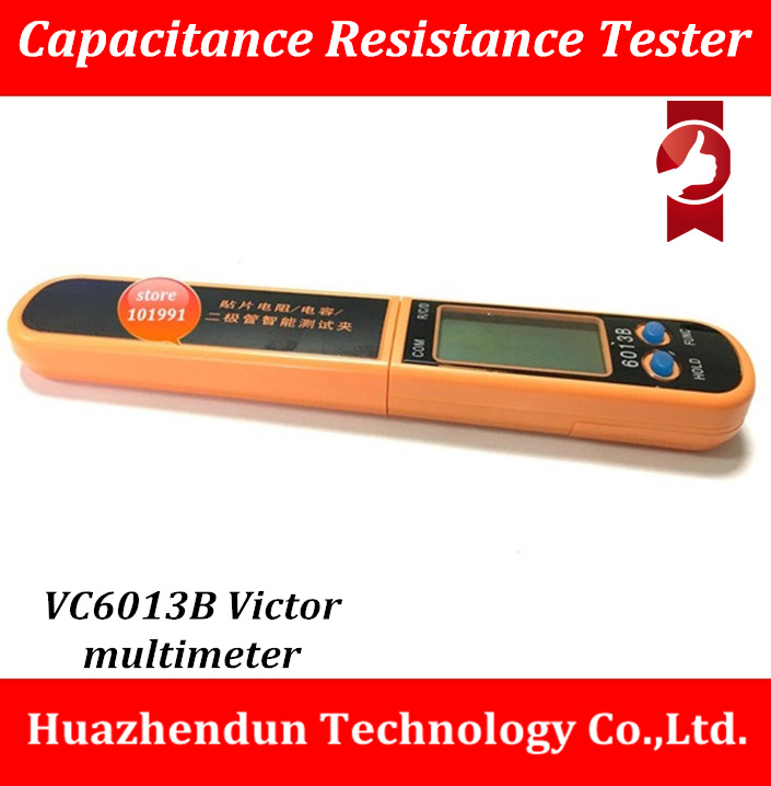 FREE SHIPPING  VC6013B  SMD Smart Multimeter Diode Capacitance Resistance Tweezers Meter LCD Display intelligent automaticly lcd digital display lux meter free shipping