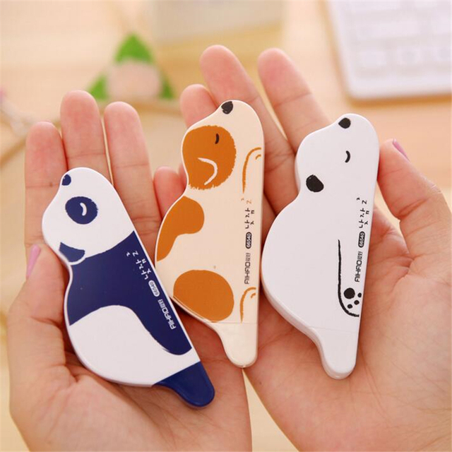 Cute Kawaii Plastic School Correction Tape Creative Cartoon Dog Correction Supplies For Kids Korean Stationery Free Shipping 880