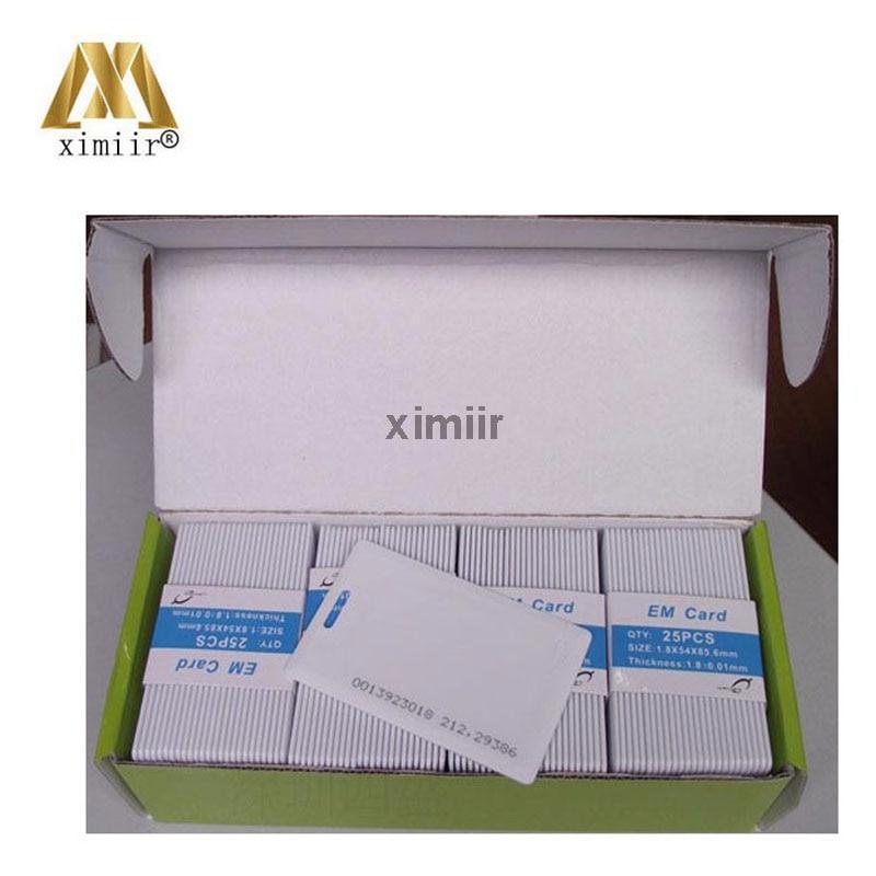 Tarjeta gruesa EM 100 unids/caja 125 Khz RFID ID proximidad Mango tarjeta gruesa para sistema de Control de acceso.