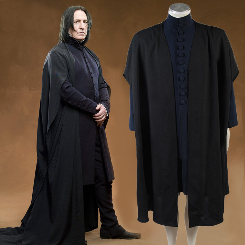 Deathly Hallows Severus Snape Cosplay Costume Coat Full Set