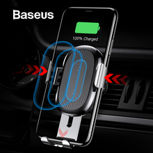 Baseus Wireless Car Charger Phone Holder For iPhone X 8 8plu