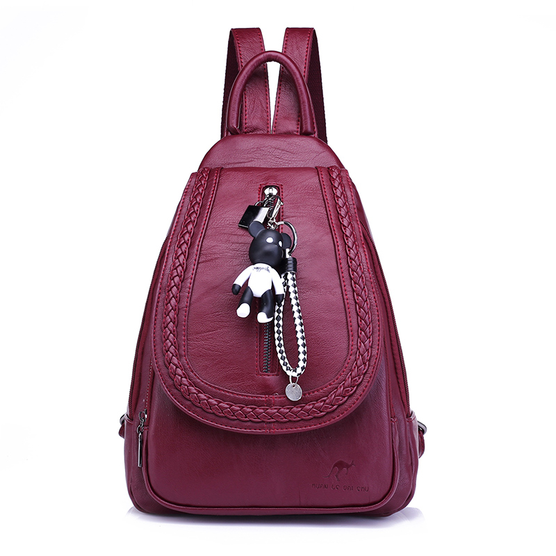 Women Backpack Soft PU Leather Women's Backpacks Female Travel Bag Small Backpack Mochila Feminina School Bag for Teenager Girls korean women backpacks travel package black soft pu leather shoulder bag schoolbags for teenage girls female leisure bag mochila