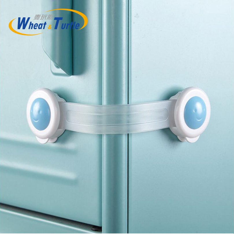5pcs/Lot Baby Safety Cabinet Lock Strap Child Lock Child Safety Protection Children Wardrobe Safety Lock Child Proof Blocker