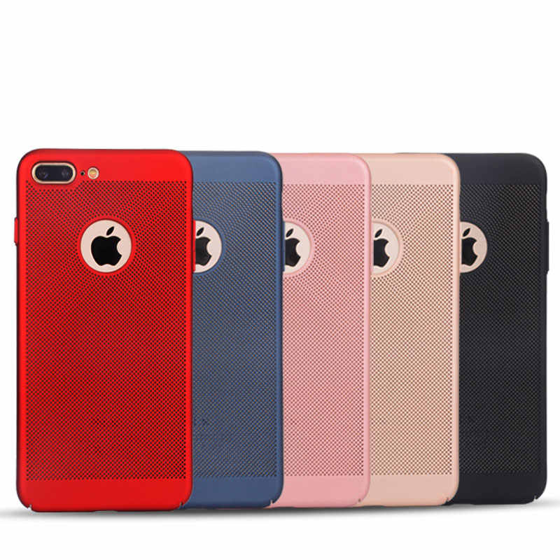Carcasa para disipar el calor ultradelgada para iPhone 11 Pro 7 8 6 s plus XS MAX X XR funda mate Simple cubierta protectora dura PC