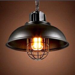Nowy amerykański przemysł loft lampy wiszące w stylu vintage czarny biały żelaza edison szkło retro loftowa lampy wiszące w stylu vintage lampa