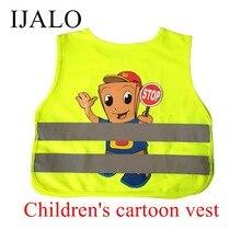 Детский светоотражающий жилет с мультипликационным принтом, школьный детский тренировочный дышащий жилет, регулируемый эластичный боковой жилет с принтом на заказ