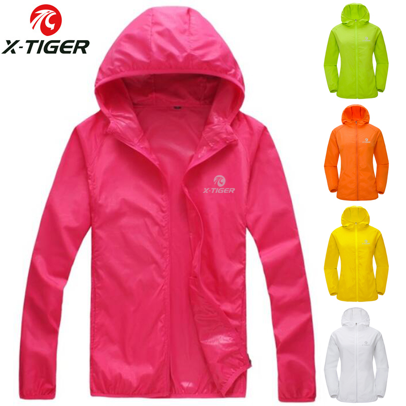 c3ad790e292 X-TIGER Womens Summer Skin Thin Anti-UV Windproof Cycling Jersey MTB Bike  Windcoat Sunscreen Hiking Jacket Bicycle Clothes